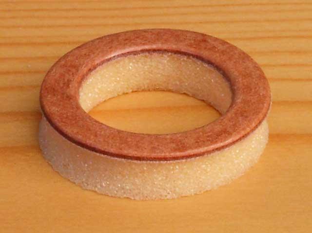 runder federnder Ring gelb